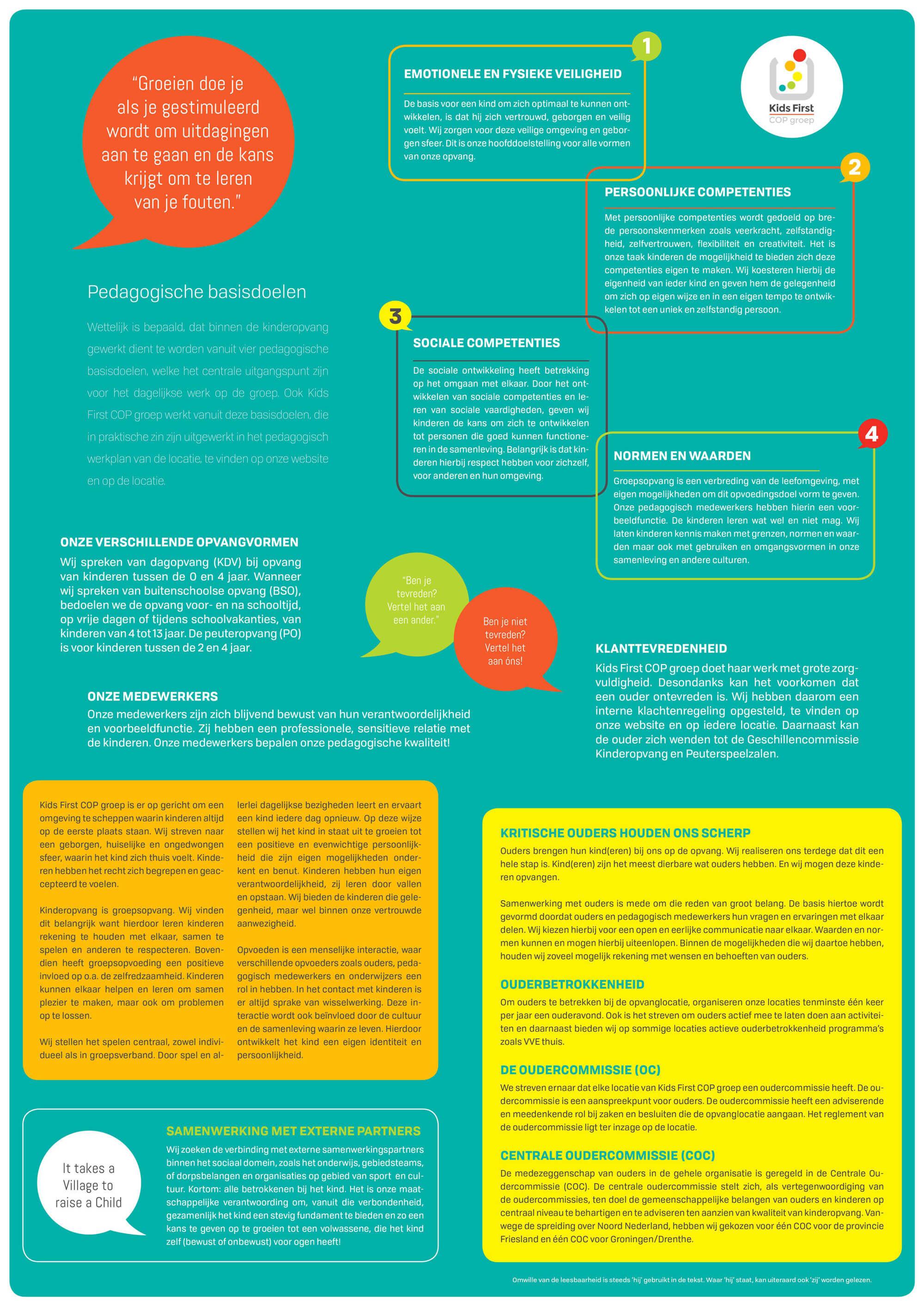 Pedagogisch beleidsplan Kids First COP groep