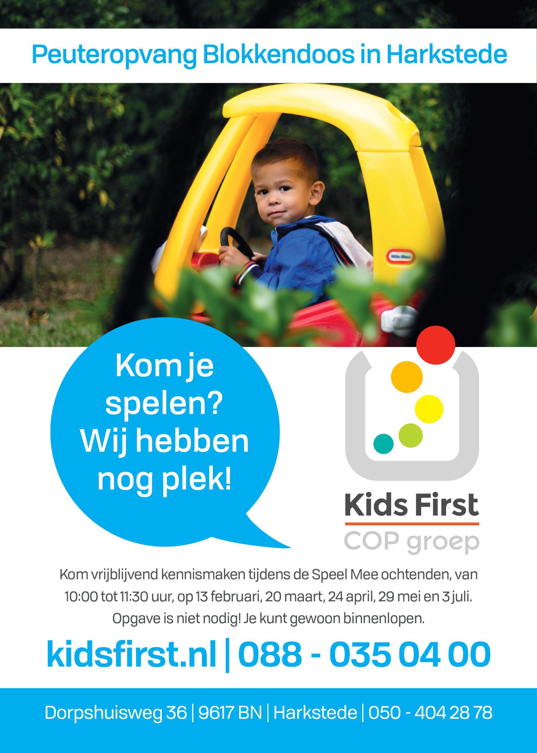 Peuteropvang de Blokkendoos Harkstede - Kids First COP groep