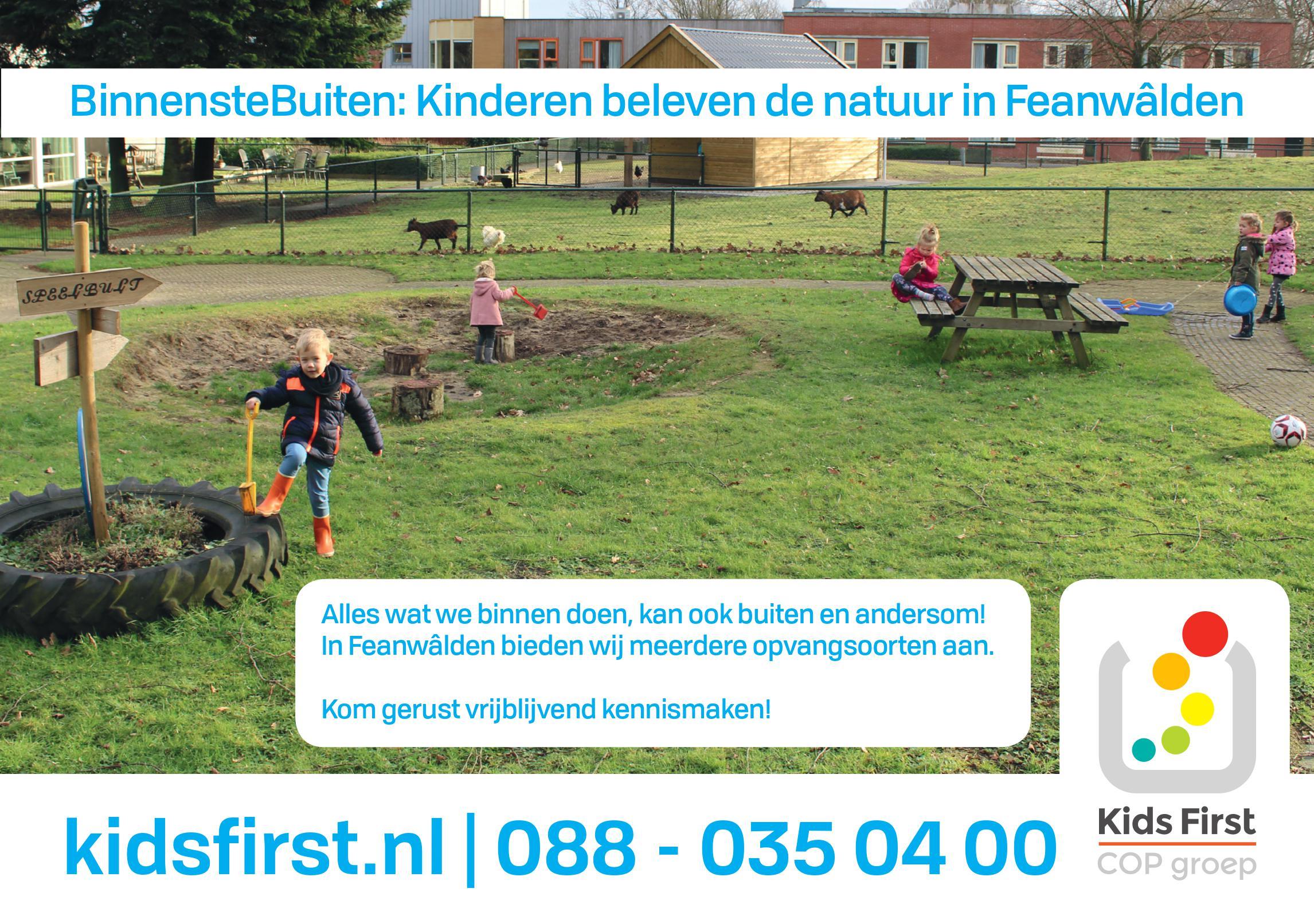 Peuteropvang Feanwâlden BinnensteBuiten locatie - Kids First COP Groep