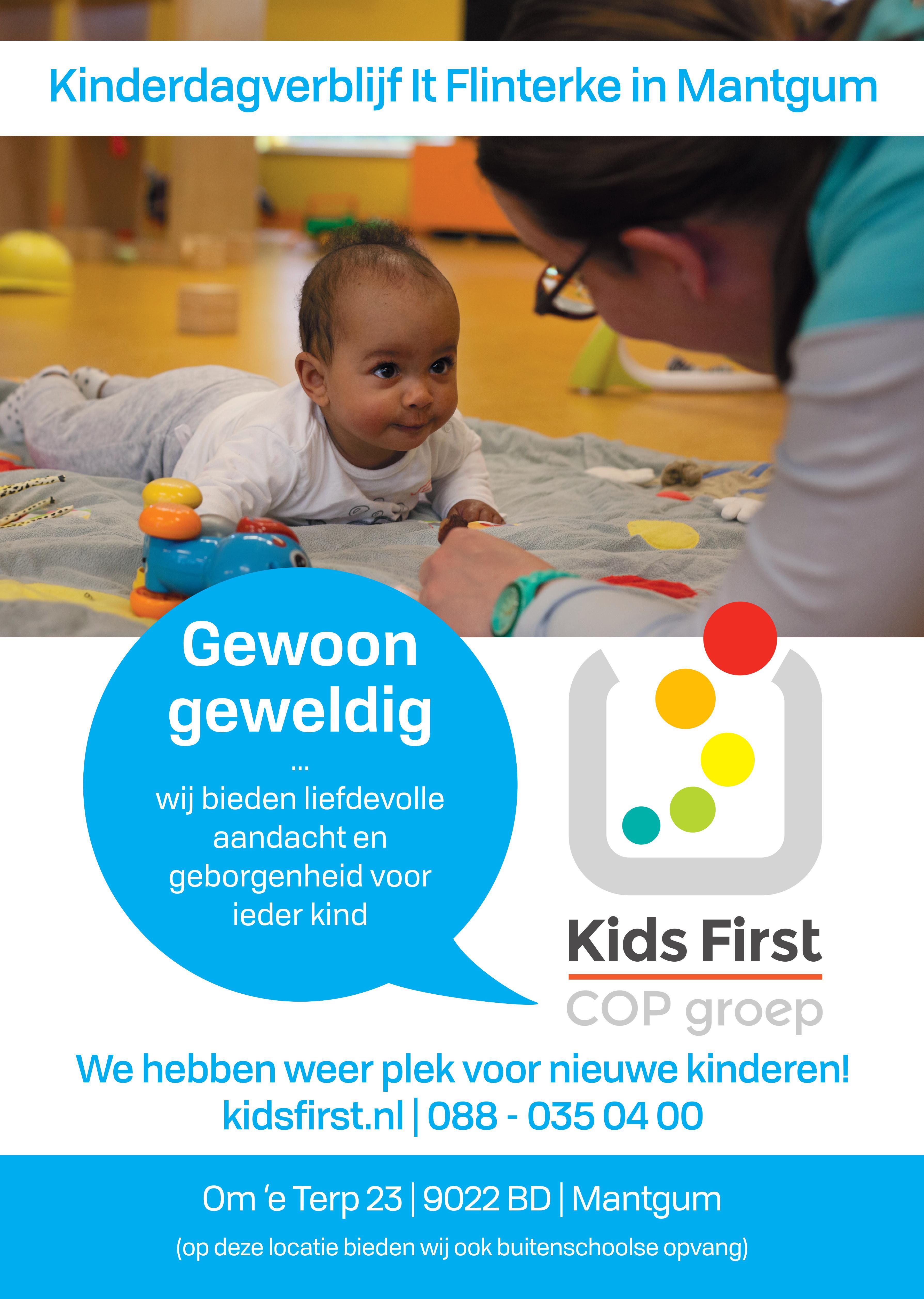 Kinderdagverblijf It Flinterke Mantgum - Kids First COP Groep