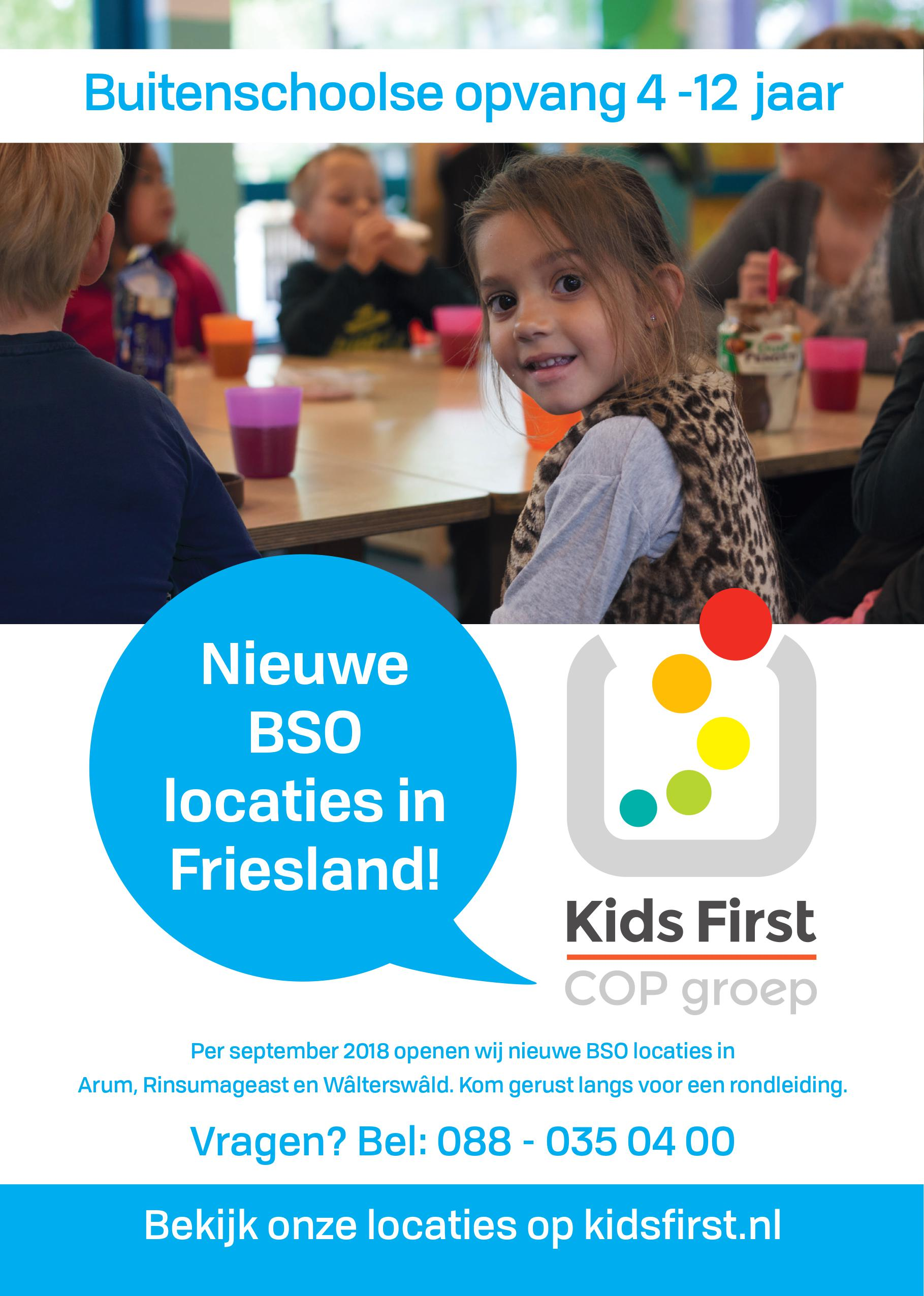 BSO in Arum - Kids First COP Groep