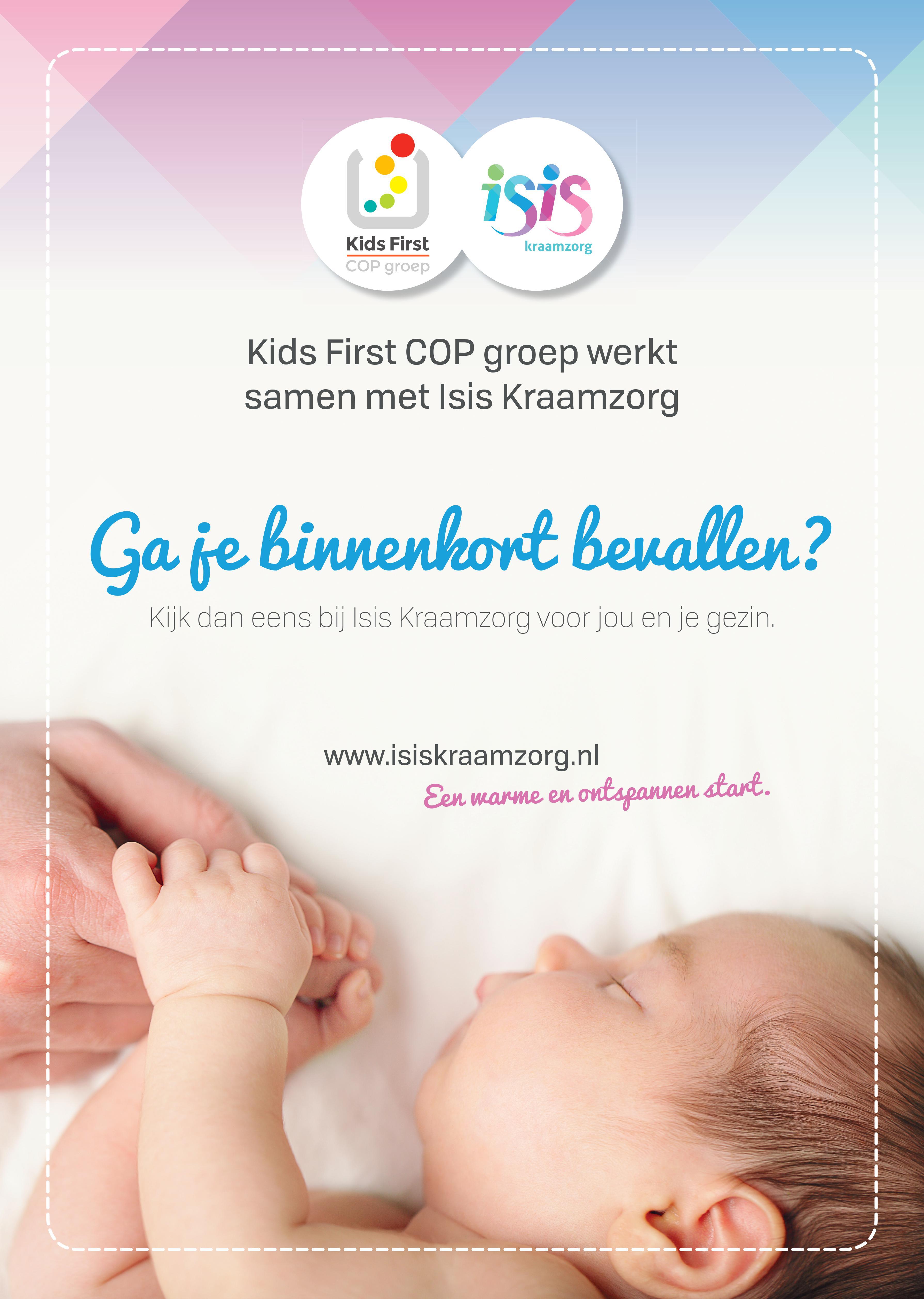 Kids First COP groep werkt samen met Isis Kraamzorg