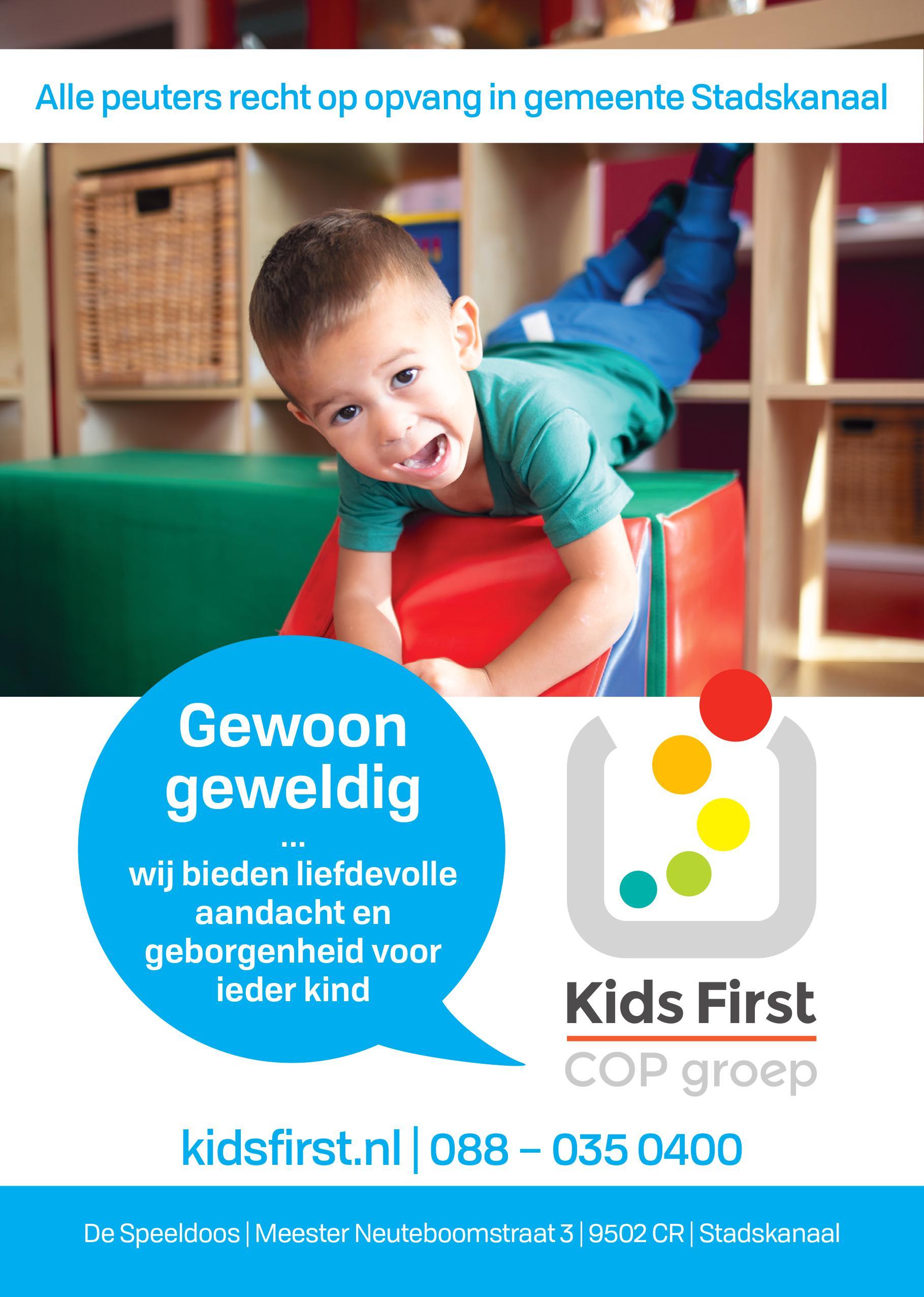 Peuteropvang De Speeldoos Stadskanaal - Kids First COP Groep