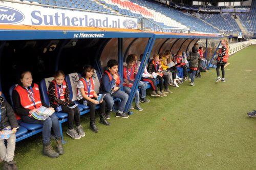 Stadionbezoek SC Heerenveen 2 - BSO Kids First COP groep