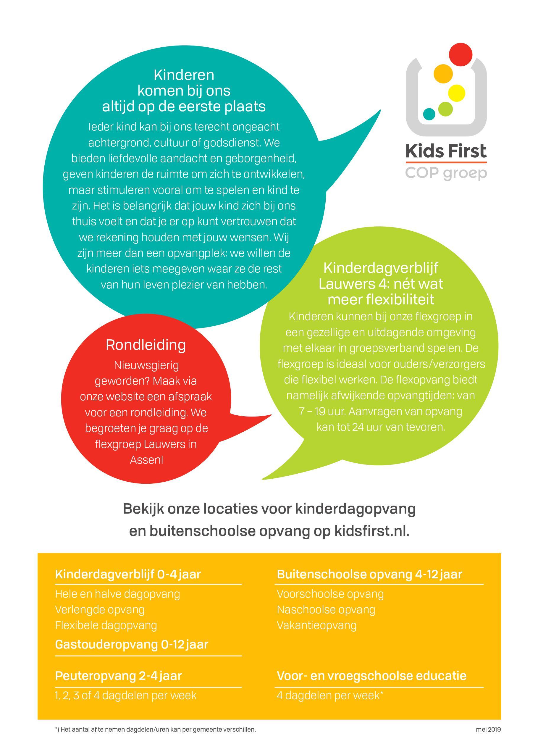 Flexopvang Lauwers 4 Assen - Kids First COP groep