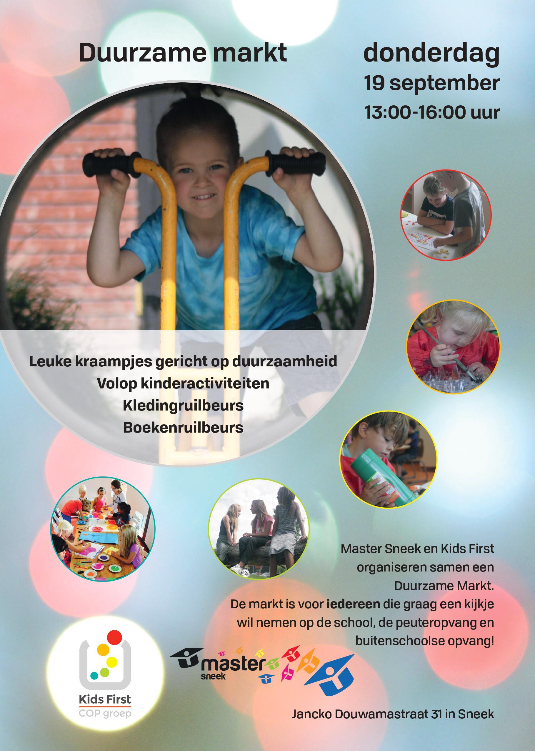 BSO Master Sneek - Duurzame markt - Kids First Friesland