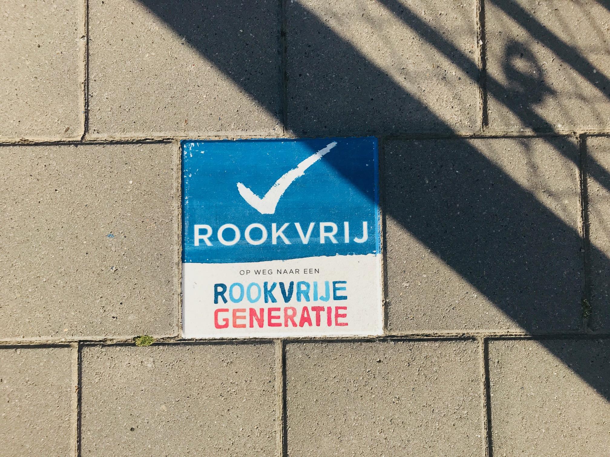Rookvrije Zone - schoolplein basisschool de Tamarisk - Kids First COP groep Groningen