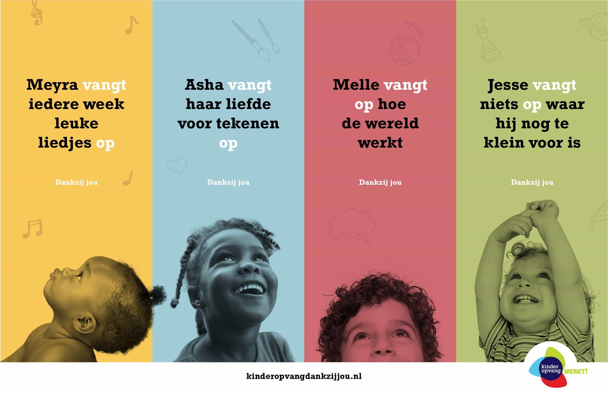 Campagne 'kinderopvang dankzij jou' Kids First COP groep kinderopvang